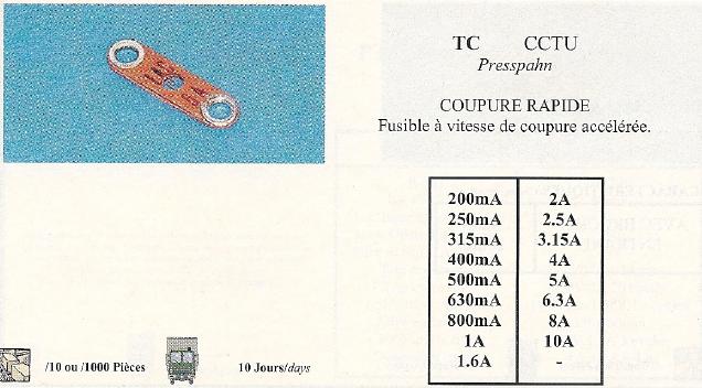 TC CCTU COUPURE RAPIDE